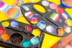 Set of water-colours - stock photo
