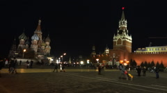Moscow Kremlin and Red Square Stock Footage