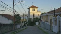 Old neighborhood in Rio de Janeiro Stock Footage