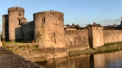 King John's Castle on the Shannon River in Limerick, Ireland Stock Footage