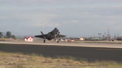 Arizona USA, November 2015, A F35 Lockheed Aircraft Land Airbase - stock footage