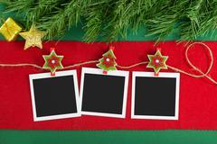 Christmas polaroid photo frames Stock Photos