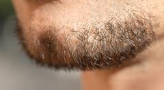 Stock Photo of hair on a man's beard. close