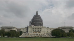 Stock Video Footage of us capitol renovations