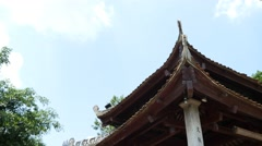 Stock Video Footage of asian temple ancient traditional architecture buddhism 4k