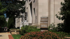 Us justice dept building washington Stock Footage