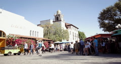 Olvera Street Downtown Los Angeles - stock footage