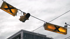 Cross Walk Lights. - stock footage