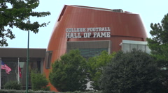 Establishing shot of the College Football Hall of Fame in Atlanta, Georgia. Arkistovideo
