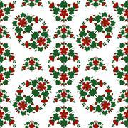 Red flowers pattern - stock illustration