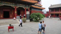 Tibetan Buddhist Lama Temple Yonghegong or Lama Temple, Beijing - stock footage