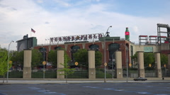 Establishing shot of Turner Field, home to major league baseball Atlanta Braves. - stock footage