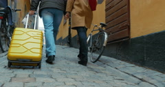Sightseeing on foot in Europe Stock Footage