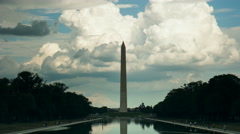 washington monument time lapse - stock footage