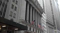 Wall Street Stock Exchange building Stock Footage