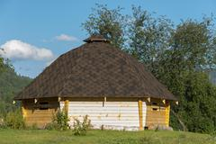 Altai traditional house Stock Photos