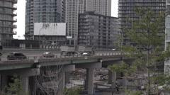 Gardiner Expressway Downtown Toronto Stock Footage
