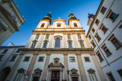 Stock Photo of The Jesuit Church, in the Inner Stadt, Vienna, Austria.