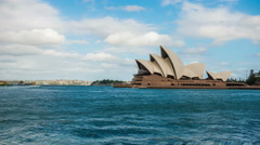 Sydney Opera House view Stock Footage