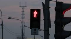 Ungraded: Traffic Light Reeling in Wind Stock Footage