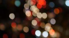 Real festive bokeh lights christmas background twinkle glitter new year 4k Stock Footage