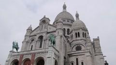 Basilique du Sacre-Coeur Stock Footage