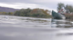 Fishing on a pond Stock Footage