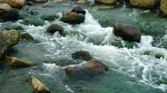 Flood rapids landscape - stock footage