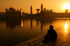 Stock Photo of Sikh pilgrims at Golden Temple India