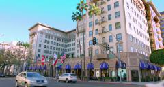 4K, RAW, Beverly Wilshire Hotel in Los Angeles, California, BlackMagic Camera Stock Footage