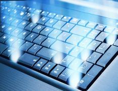 Modern keyboard - stock photo