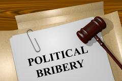 Political Bribery concept Stock Illustration