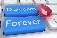 Diamonds Forever Concept Stock Illustration
