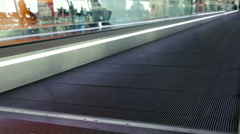 Moving Walkway at the Airport Stock Footage
