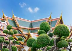 Wat Po Temple roofs Stock Photos