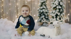 First Christmas. First Gift. first new year Stock Footage