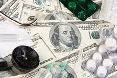 Medicines costs money - stock photo