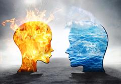 Water against fire Stock Illustration
