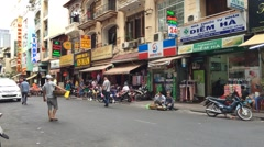 Timelapse view of evening life in Saigon city down town Arkistovideo