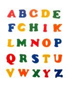 Colorful letters of alphabet Stock Photos