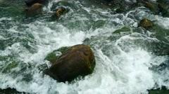 Flood rapids landscape in Shenzhen Futian River in China. - stock footage