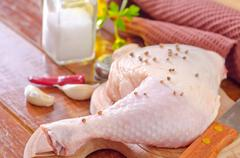 chicken leg - stock photo