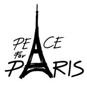 Eiffel Tower ,peace symbol icon Stock Illustration