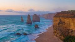 The Twelve Apostles, Victoria,Australia Stock Footage