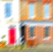 Notting hill  area  in london england old suburban and antique     wall door Stock Illustration