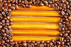 Coffee frame Stock Photos
