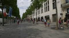 Galerie Marchande 26 on Avenue des Champs-Elysees, Paris Stock Footage