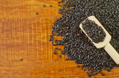black rice - stock photo