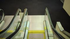 Escalator descent at pdx, Portland International Airport Stock Footage