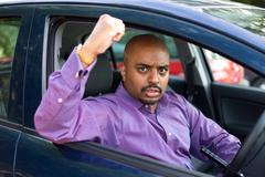 Road rage incident Stock Photos